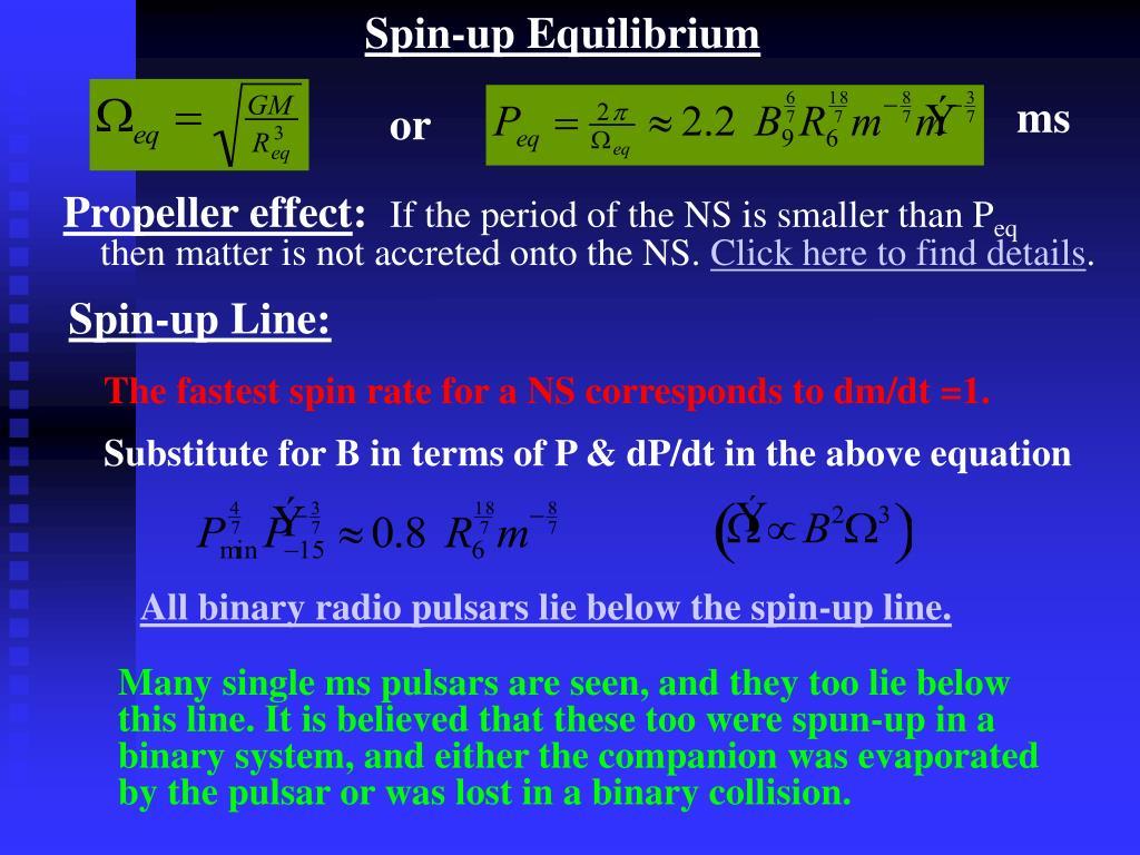 Spin-up equilibrium