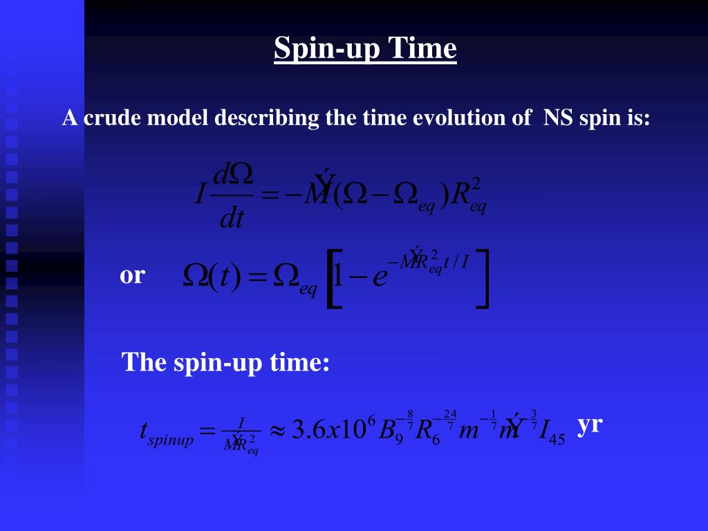Spin-up Time