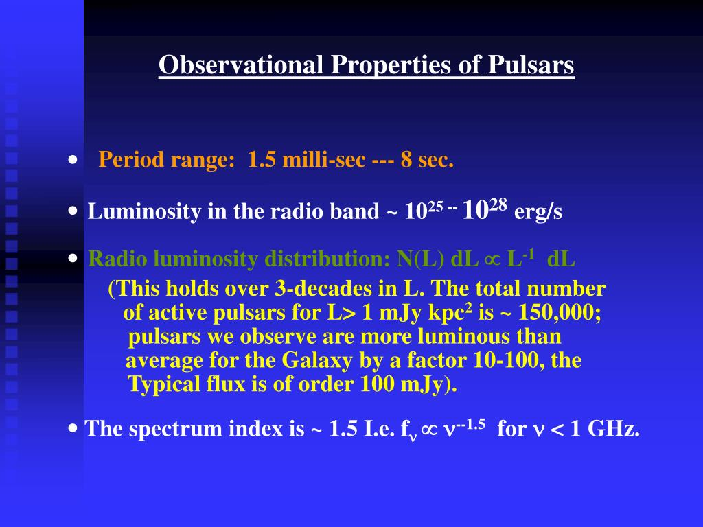 Observational Properties of Pulsars