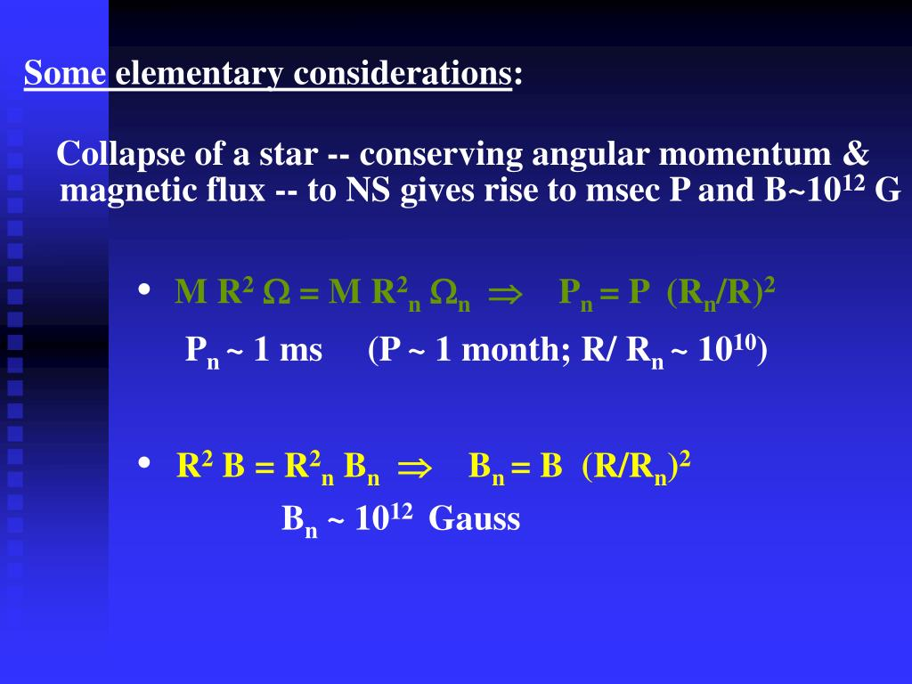 Some elementary considerations