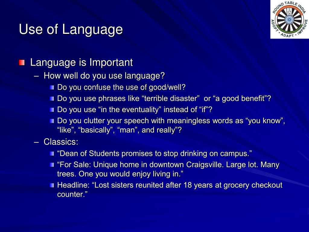 Use of Language