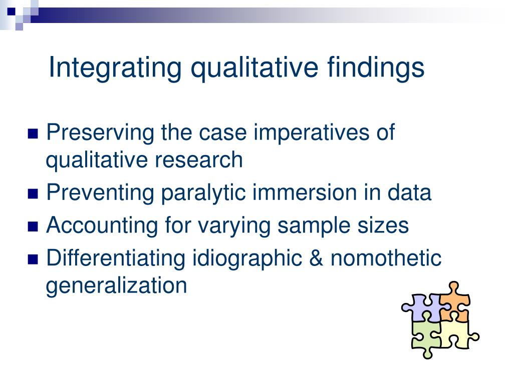the qualitative metasynthesis project Qualitative metasynthesis involves conceptualizing a research project  stetler model of research utilization to facilitate ebp and the iowa model of evidence.