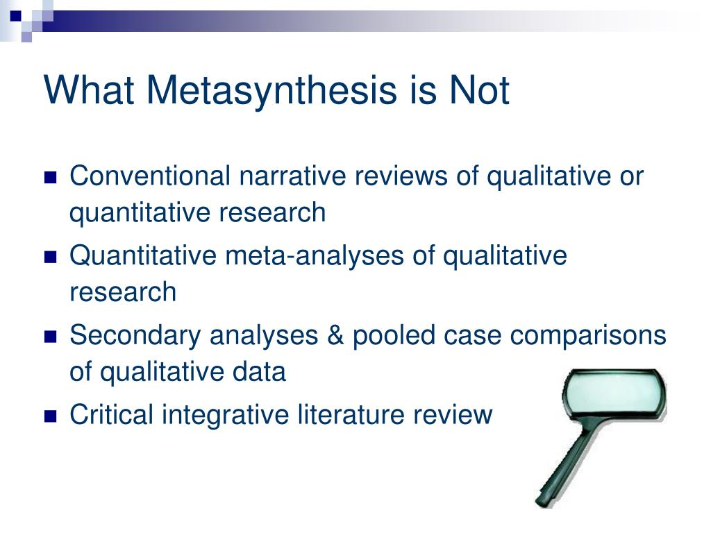 qualitative metasynthesis This article examines this issue by presenting findings from a qualitative metasynthesis of peer-reviewed studies that examined how us teachers conceptualized.