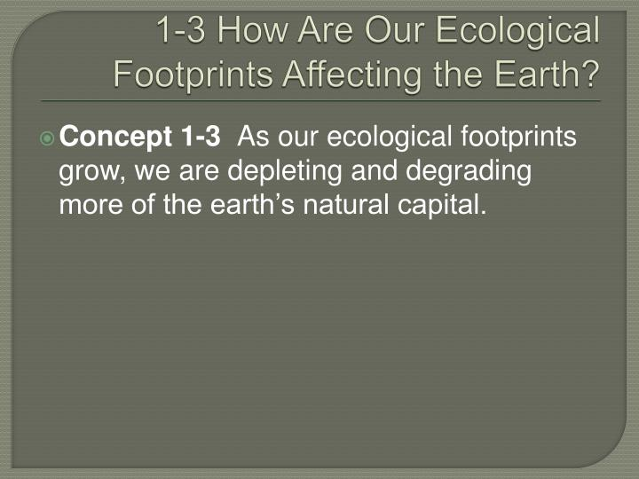 1-3 How Are Our Ecological Footprints Affecting the Earth?