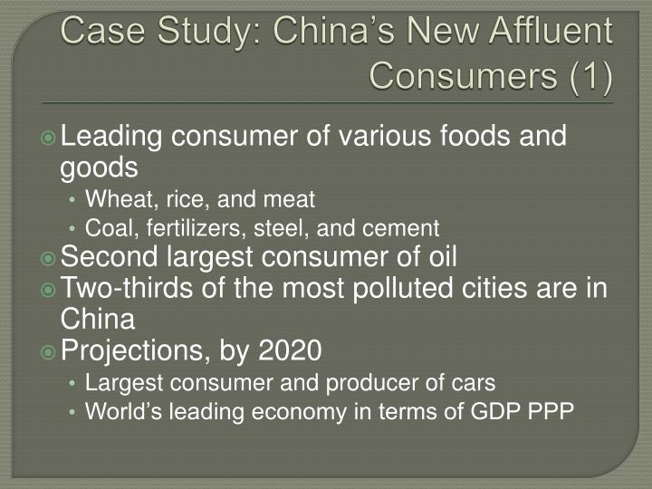 Case Study: China's New Affluent Consumers (1)