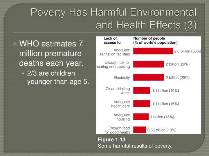 Poverty Has Harmful Environmental and Health Effects