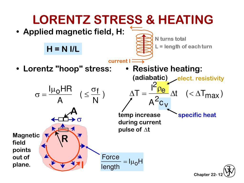 LORENTZ STRESS & HEATING
