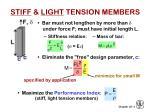 stiff light tension members