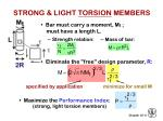strong light torsion members