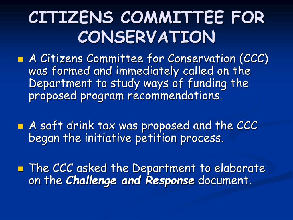 CITIZENS COMMITTEE FOR CONSERVATION
