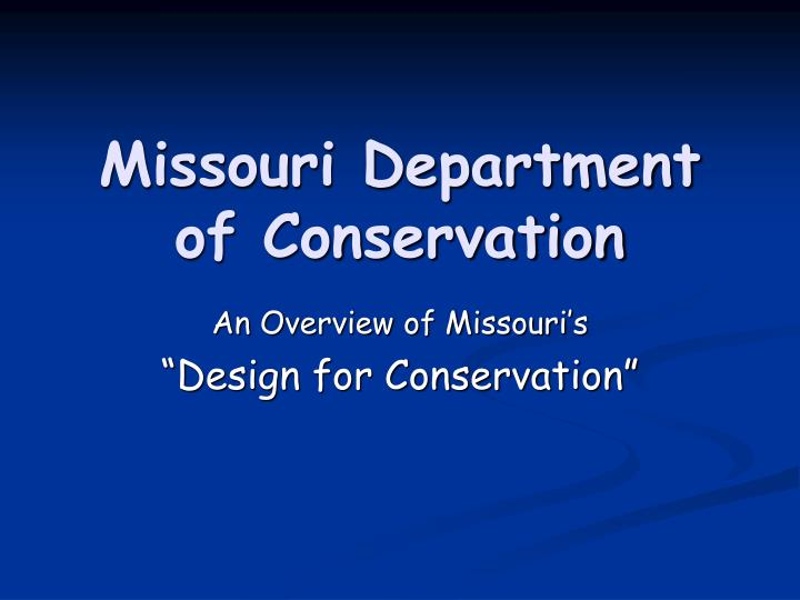 Missouri department of conservation l.jpg