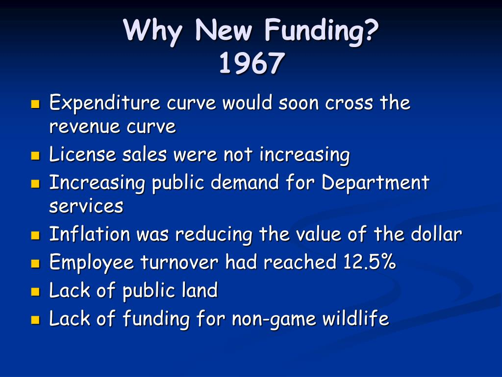 Why New Funding?
