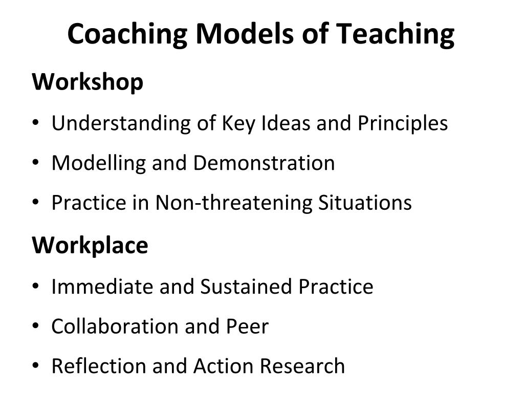 Coaching Models of Teaching