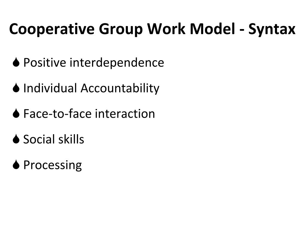 Cooperative Group Work Model - Syntax