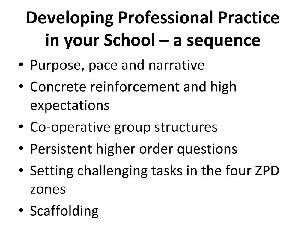 Developing Professional Practice in your School – a sequence
