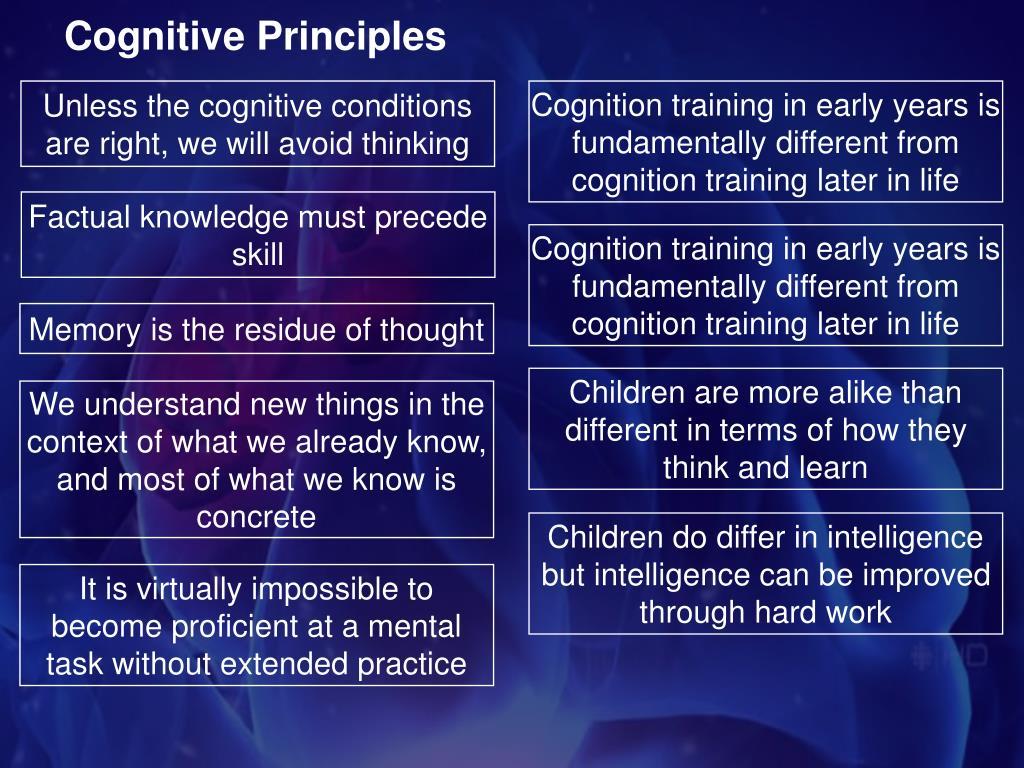 Cognitive Principles