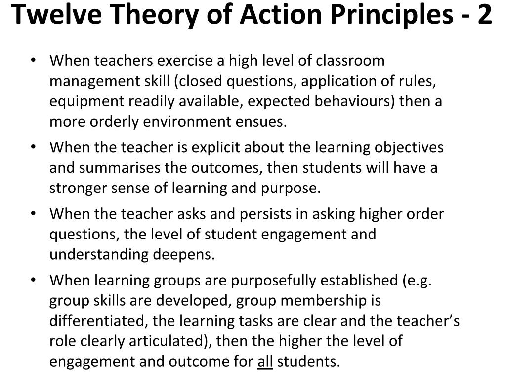 Twelve Theory of Action Principles - 2
