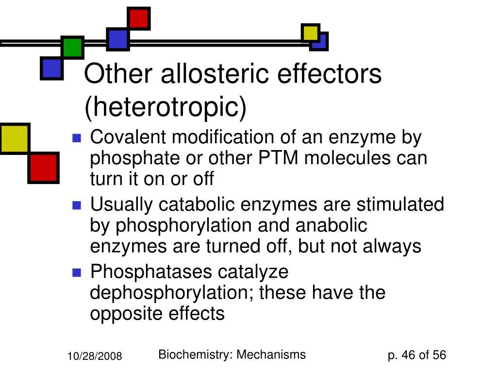 Other allosteric effectors (heterotropic)