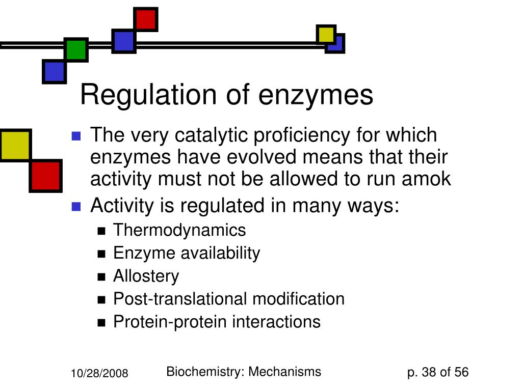 Regulation of enzymes