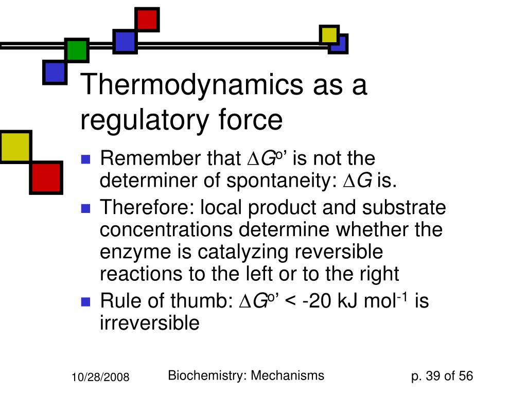 Thermodynamics as a regulatory force
