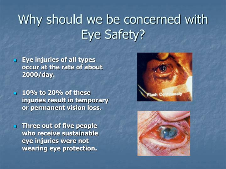 Why should we be concerned with eye safety