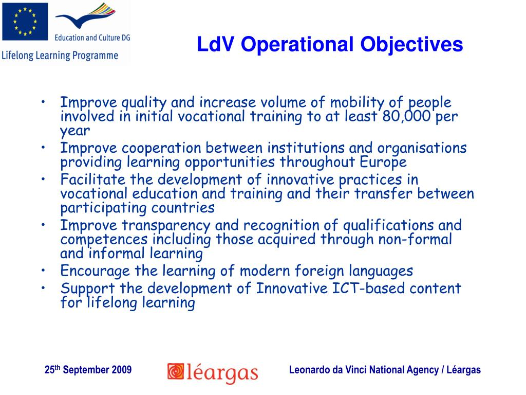 LdV Operational Objectives