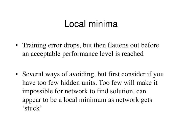 Local minima