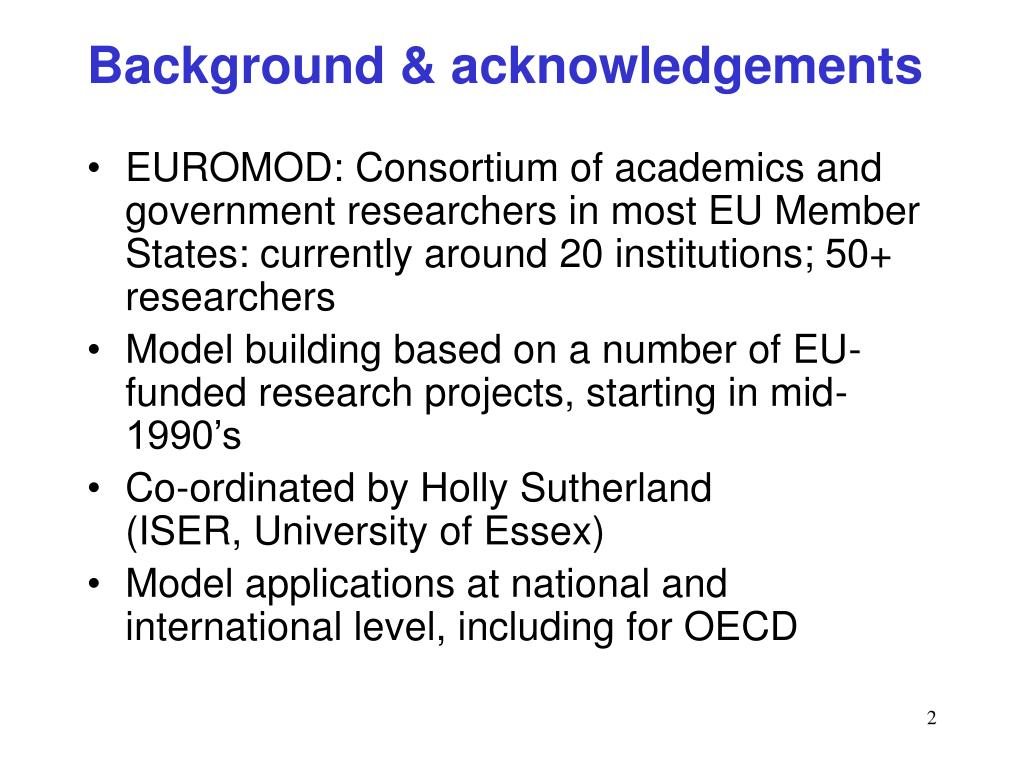 Background & acknowledgements