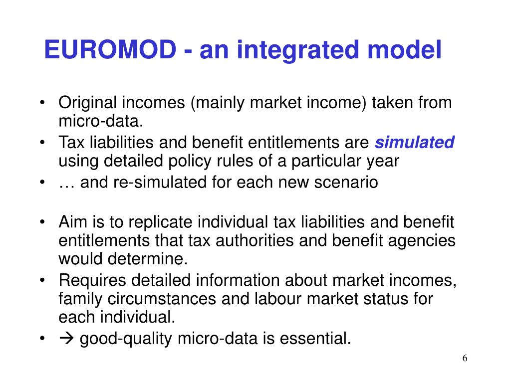 EUROMOD - an integrated model