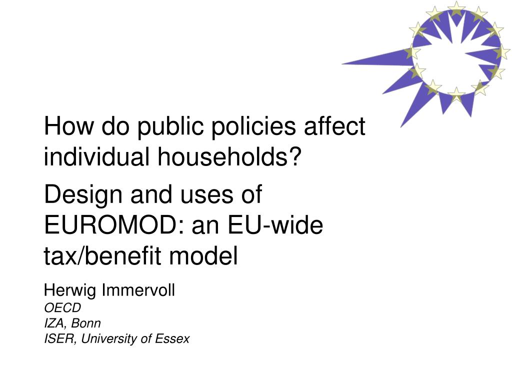 How do public policies affect individual households?