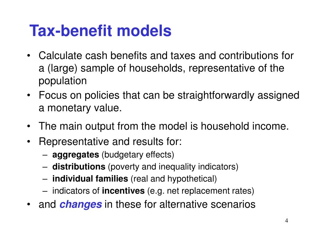Tax-benefit models