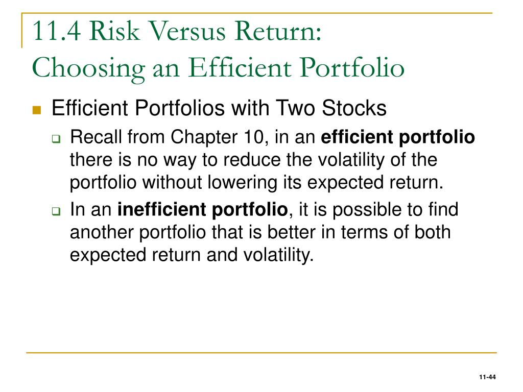 11.4 Risk Versus Return: