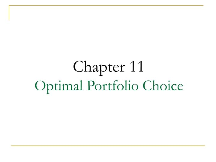 Chapter 11 optimal portfolio choice l.jpg