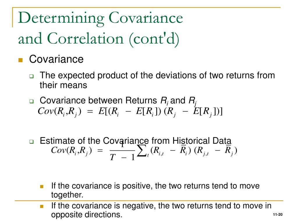 Determining Covariance