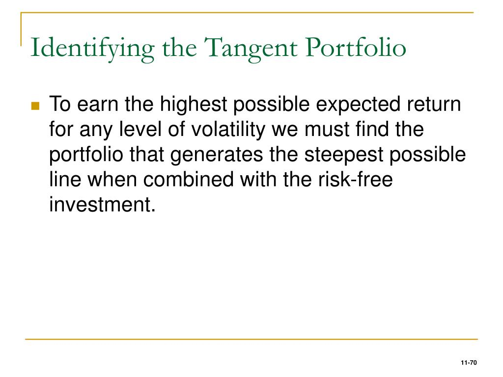 Identifying the Tangent Portfolio