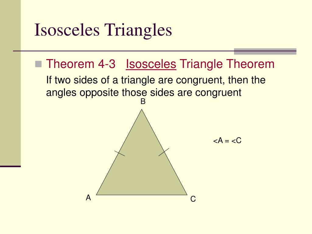 PPT - 4.5 Isosceles and Equilateral Triangles PowerPoint ...