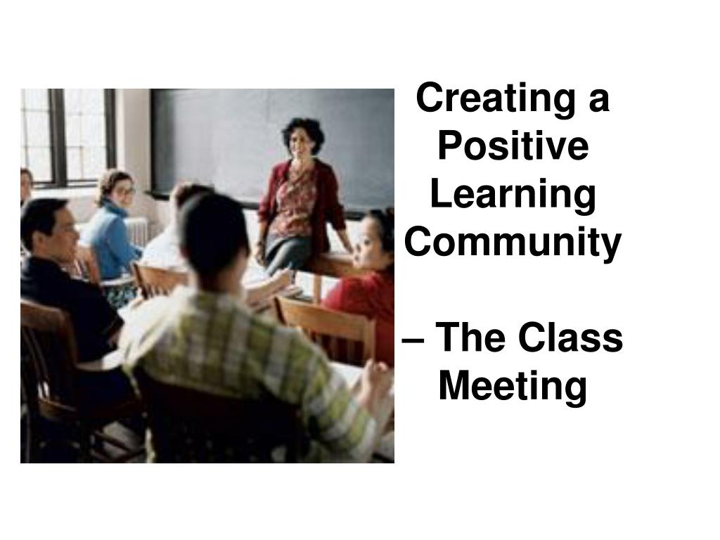 Creating a Positive Learning Community