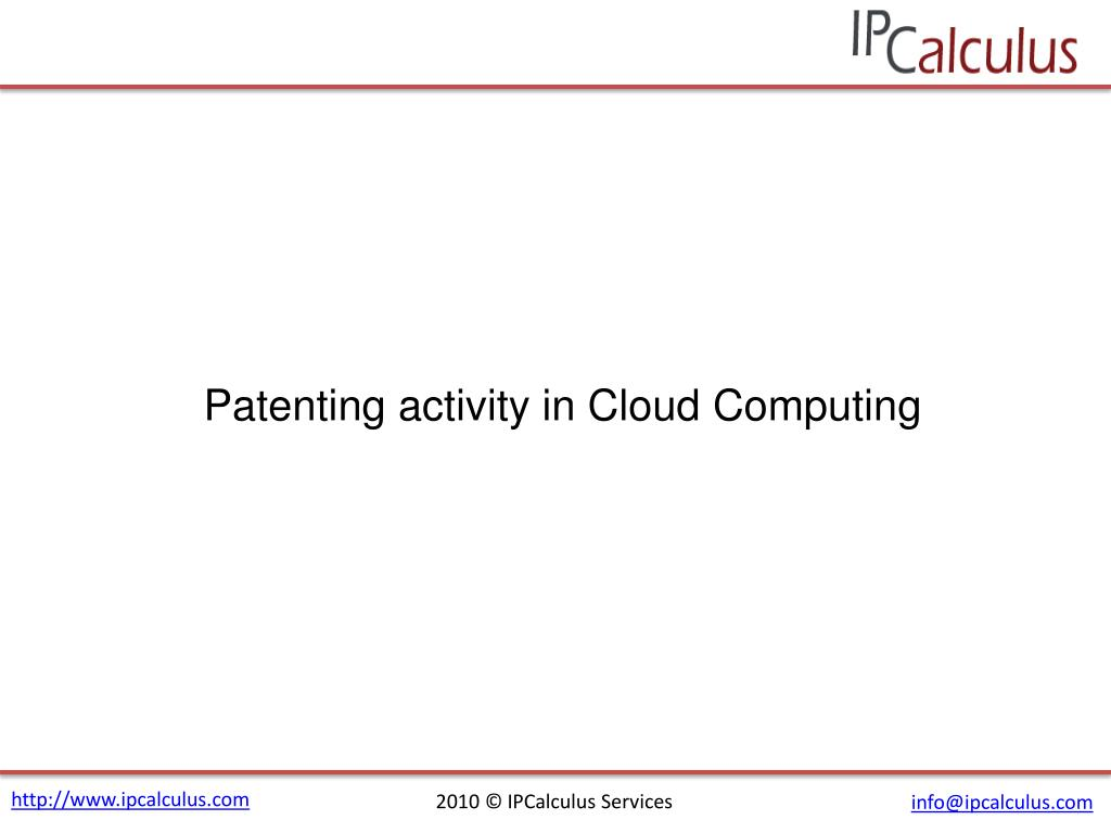 Patenting activity in Cloud Computing