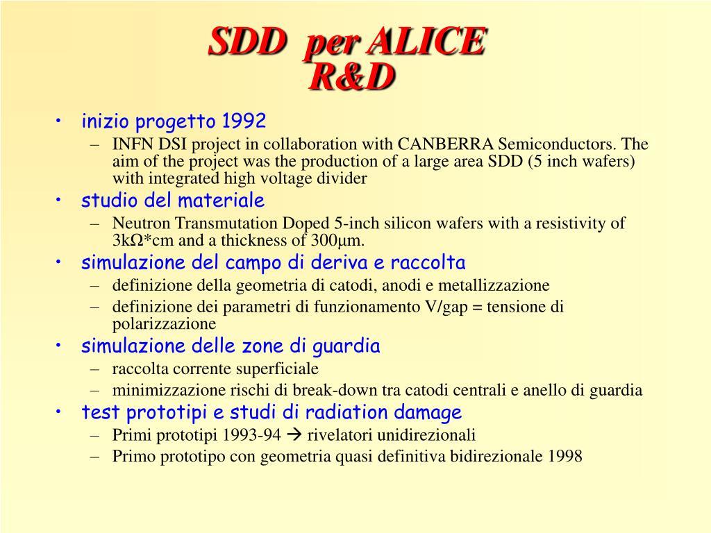 SDD  per ALICE