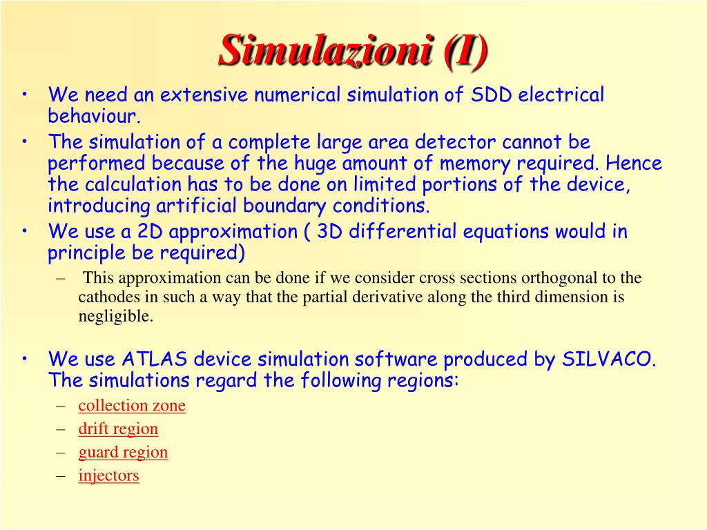 Simulazioni (I)