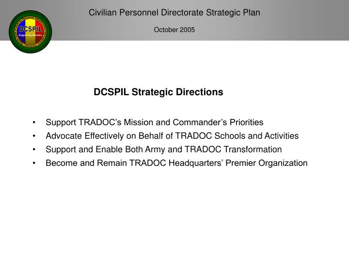Dcspil strategic directions