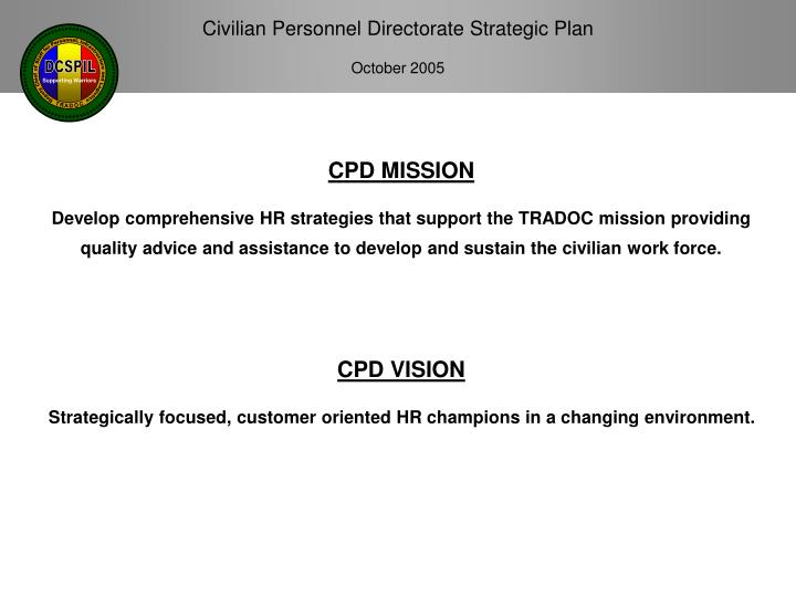 CPD MISSION