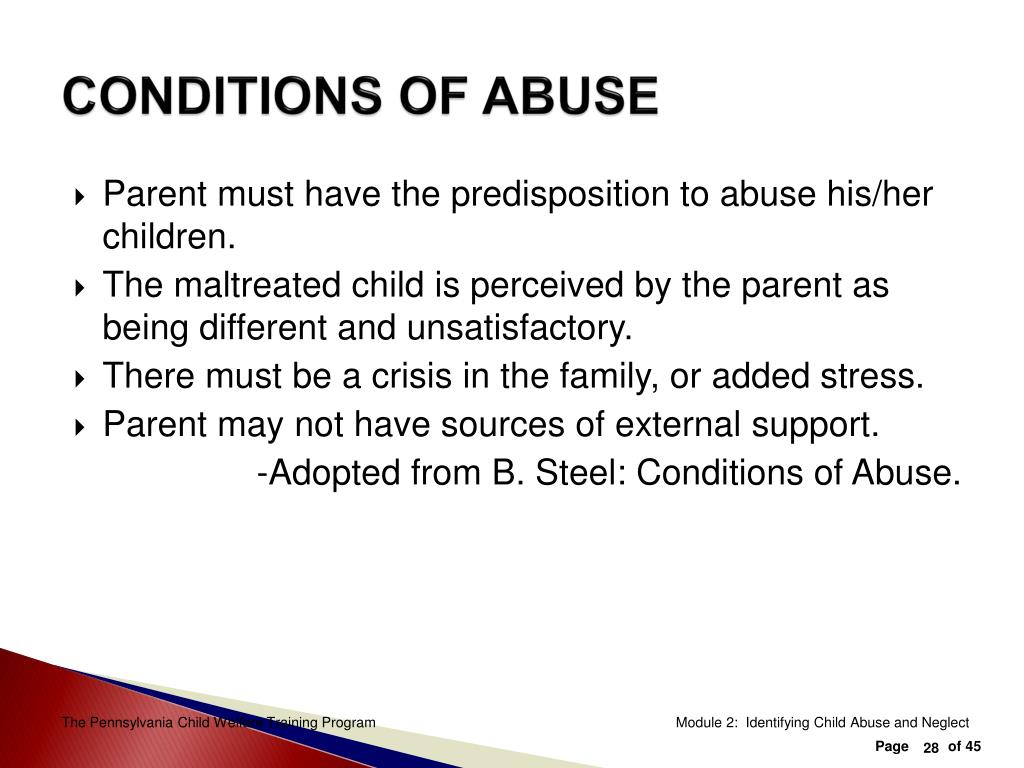 CONDITIONS OF ABUSE