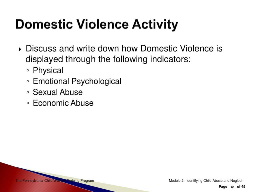 Domestic Violence Activity