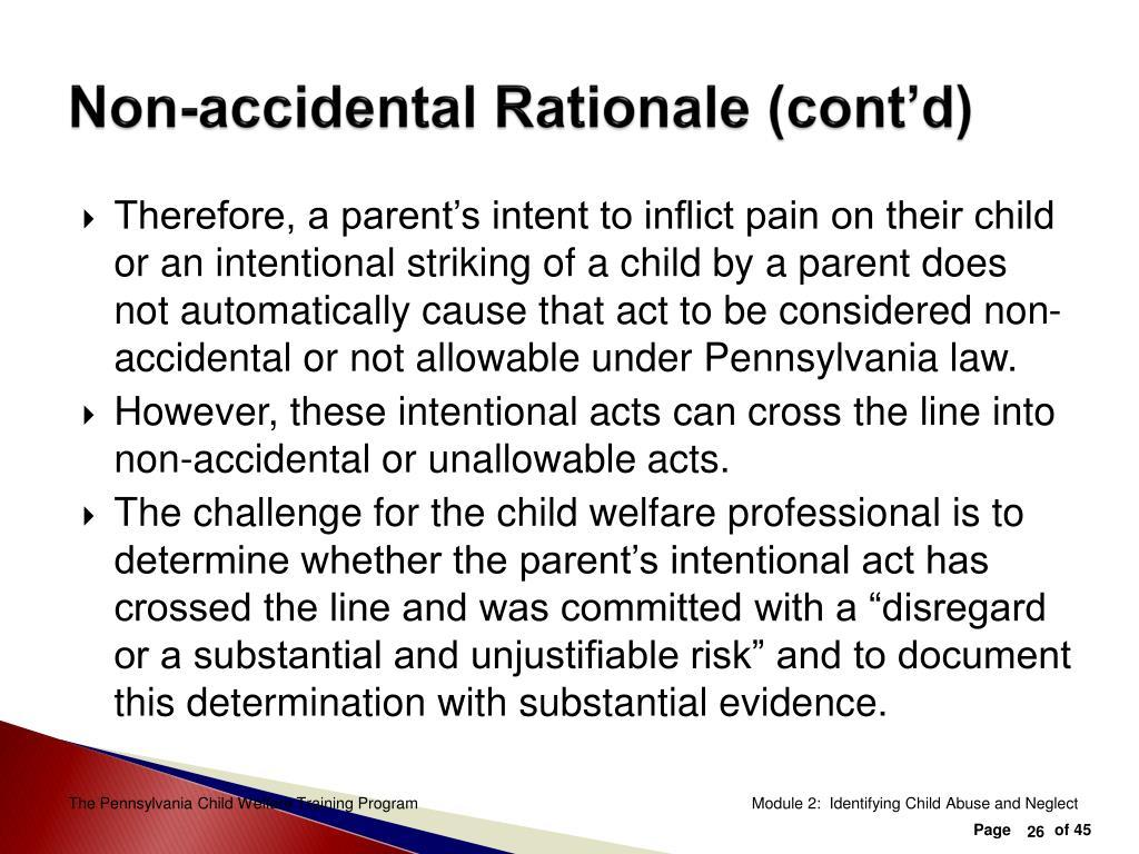 Non-accidental Rationale (cont'd)