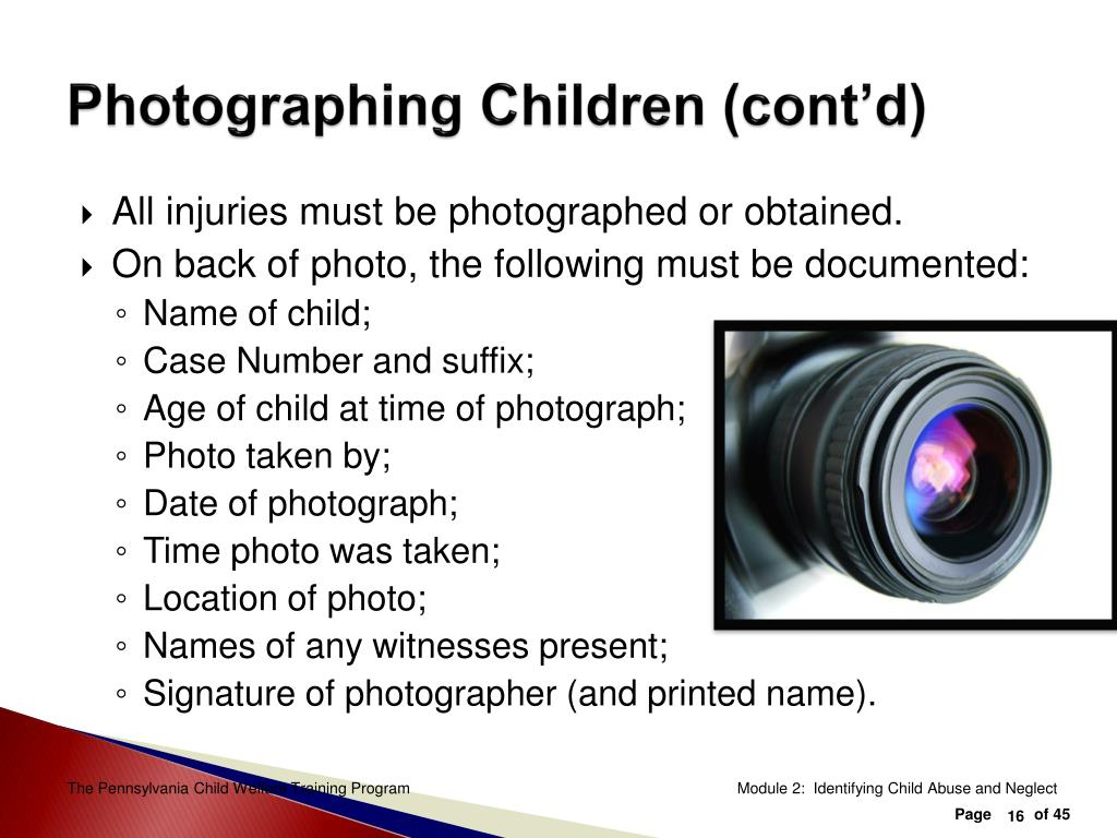 Photographing Children (cont'd)