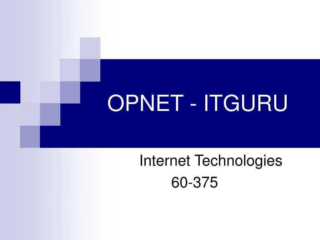 OPNET - ITGURU