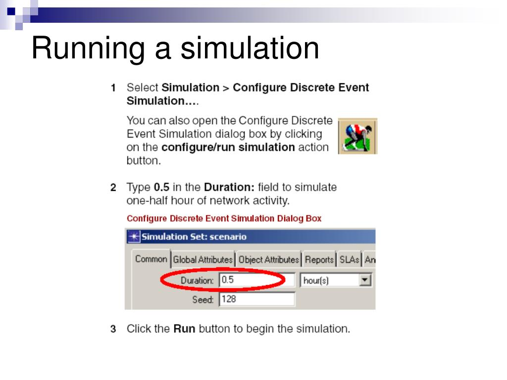 Running a simulation