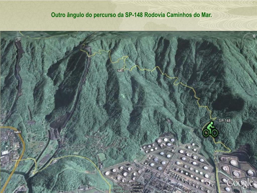 Outro ângulo do percurso da SP-148 Rodovia Caminhos do Mar.