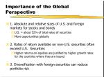 importance of the global perspective